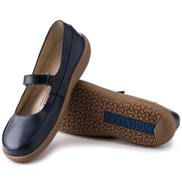 BIRKENSTOCK Iona Navy Leather Outlet Store