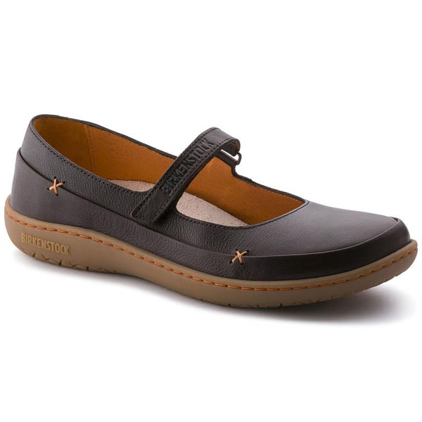 BIRKENSTOCK Iona Dark Brown Leather Outlet Store