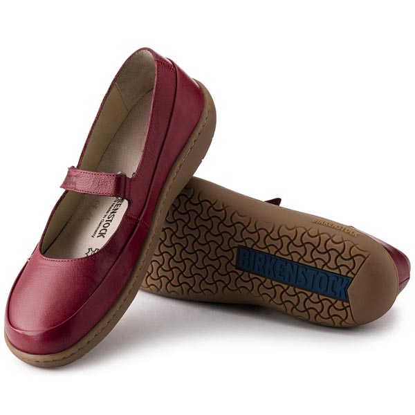 BIRKENSTOCK Iona Red Leather Outlet Store