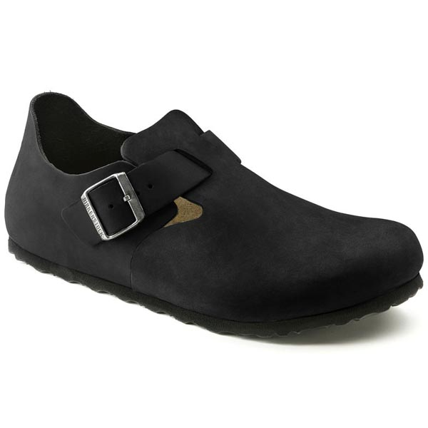 BIRKENSTOCK London Black Oiled Leather Outlet Store
