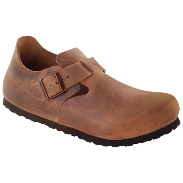 BIRKENSTOCK London Soft Footbed Antique Brown Leather Outlet Store