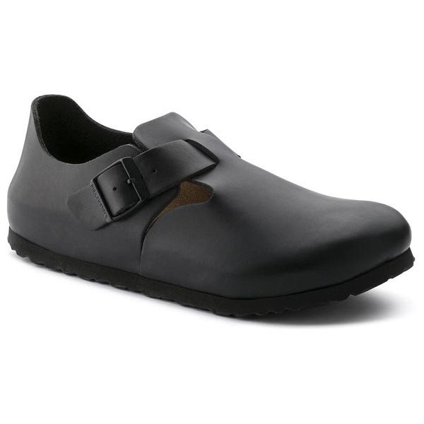 BIRKENSTOCK London Soft Footbed Hunter Black Leather Outlet Store