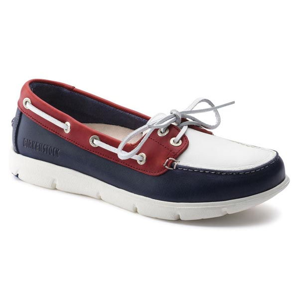 BIRKENSTOCK Tennessee Dark Blue/White/Red Leather Outlet Store