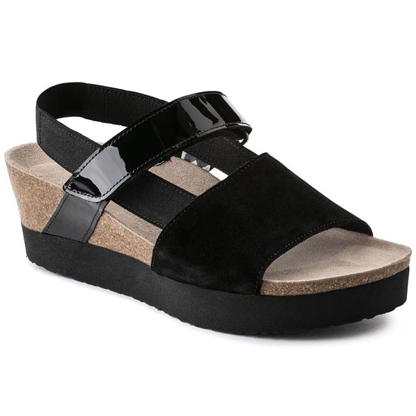 Papillio Linda Black Suede Outlet Store