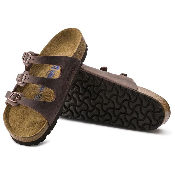 BIRKENSTOCK Florida Habana Oiled Leather Soft footbed Outlet Store