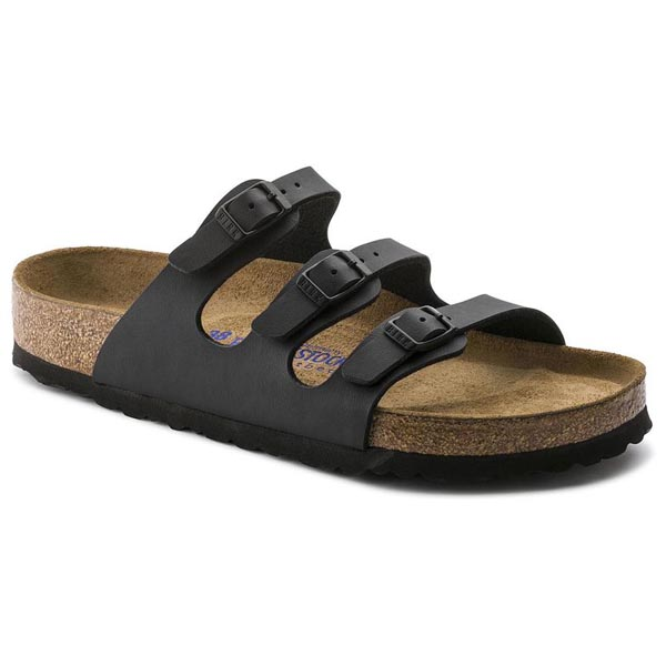 BIRKENSTOCK Florida Soft Footbed Black Birko-Flor Outlet Store