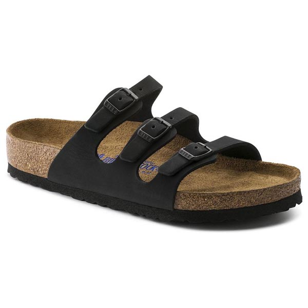 BIRKENSTOCK Florida Soft Footbed Jet Black Nubuck Outlet Store