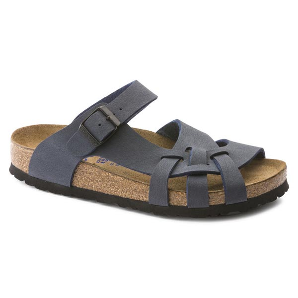 BIRKENSTOCK Pisa Soft Footbed Navy Birkibuc Outlet Store