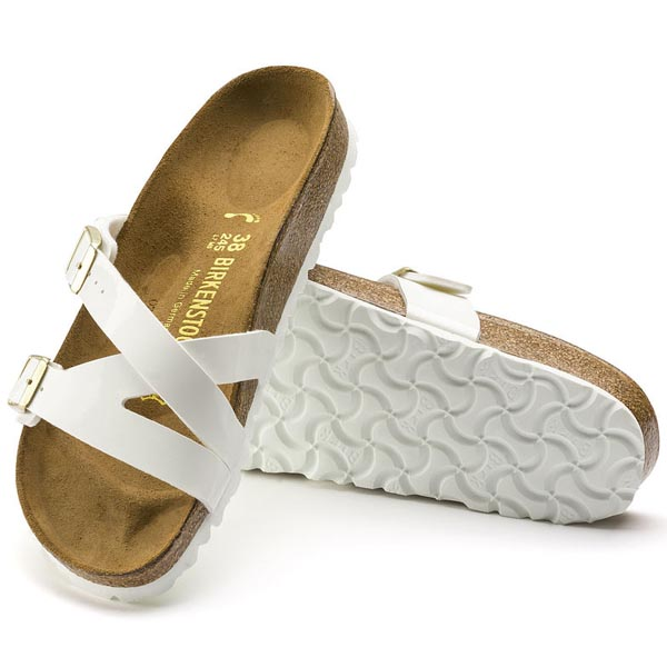 BIRKENSTOCK Yao Balance White Birko-Flor Patent Outlet Store