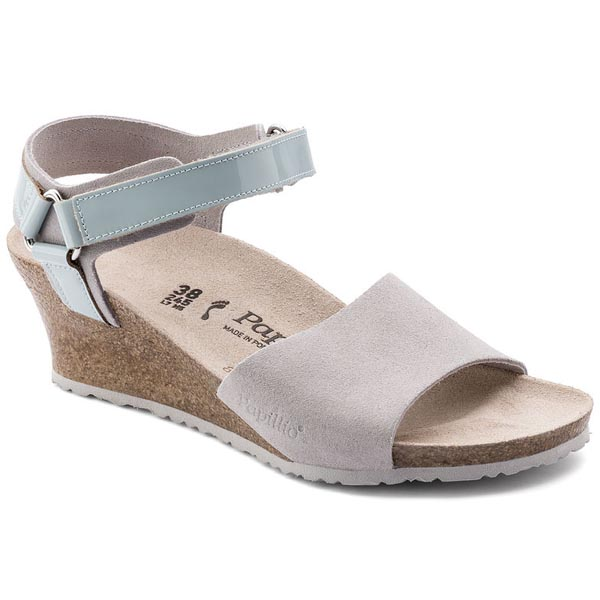 Papillio Eve Grey Suede Leather/PVC Outlet Store