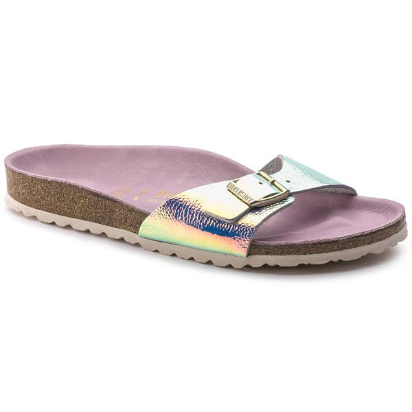 BIRKENSTOCK Madrid Lux Ombre Pearl Silver Orchid Leather Outlet Store
