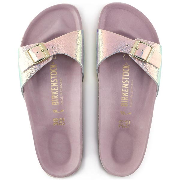 f0da9957bdf BIRKENSTOCK Madrid Lux Ombre Pearl Silver Orchid Leather Outlet Store