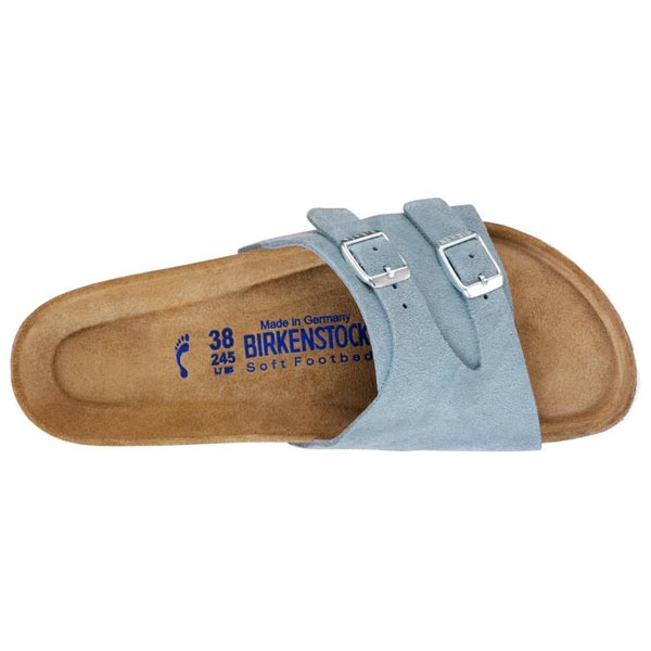 BIRKENSTOCK Vaduz Soft Footbed Light Blue Suede Outlet Store