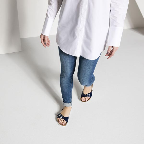 BIRKENSTOCK Madrid Dress Blue Birko-Flor Patent Outlet Store