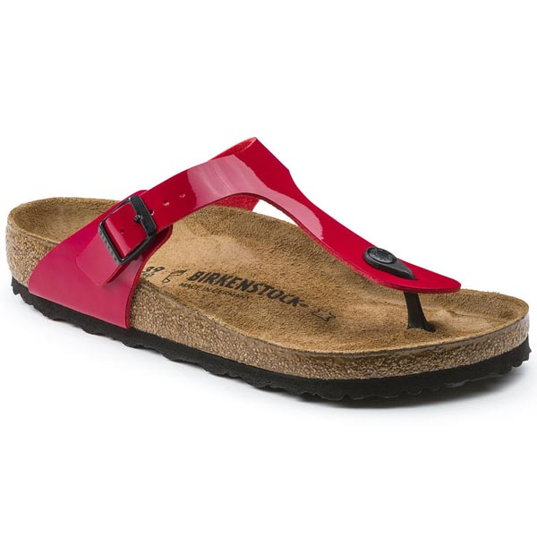 BIRKENSTOCK Gizeh Tango Red Patent Birko-Flor Patent Outlet Store