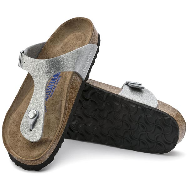 BIRKENSTOCK Gizeh Soft Footbed Magic Galaxy Silver Birko-Flor Outlet Store