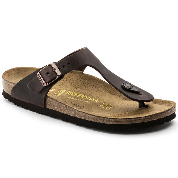 BIRKENSTOCK Gizeh Habana Oiled Leather Outlet Store