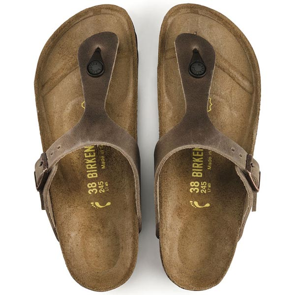 BIRKENSTOCK Gizeh Tabacco Brown Oiled Leather Outlet Store