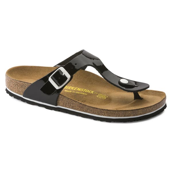 BIRKENSTOCK Gizeh Black Oiled Leather Outlet Store
