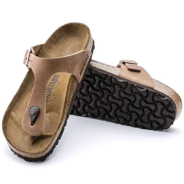 BIRKENSTOCK Gizeh Antique Brown Oiled Leather Outlet Store