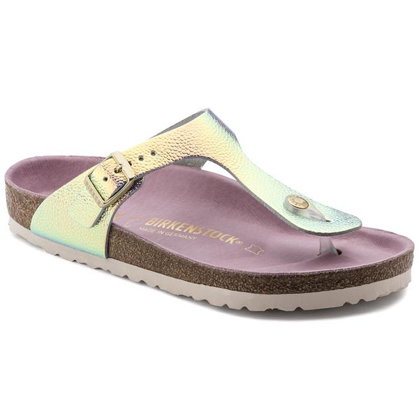 BIRKENSTOCK Gizeh Lux Ombre Pearl Silver Orchid Leather Outlet Store