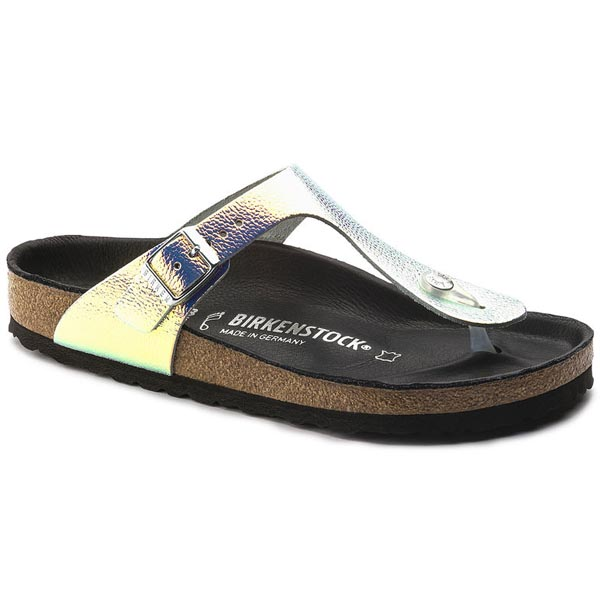 BIRKENSTOCK Gizeh Lux Ombre Pearls Silver Black Leather Outlet Store