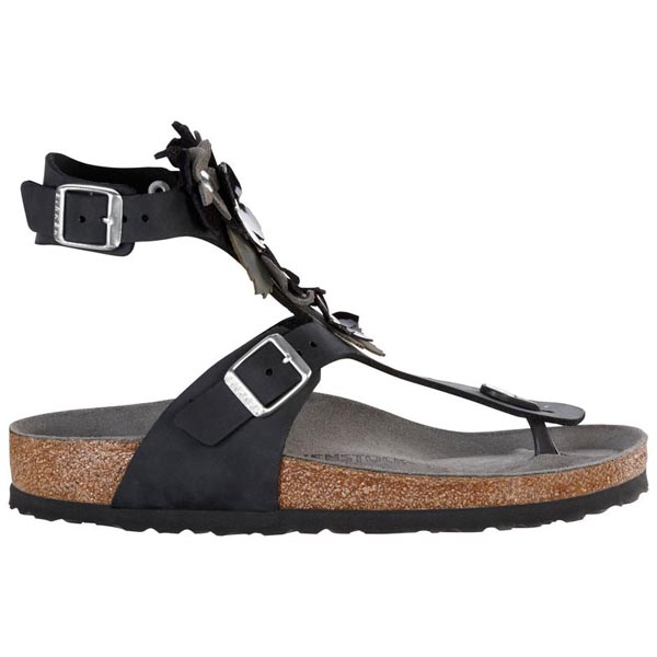 BIRKENSTOCK Gizeh High Black Natural Leather Outlet Store