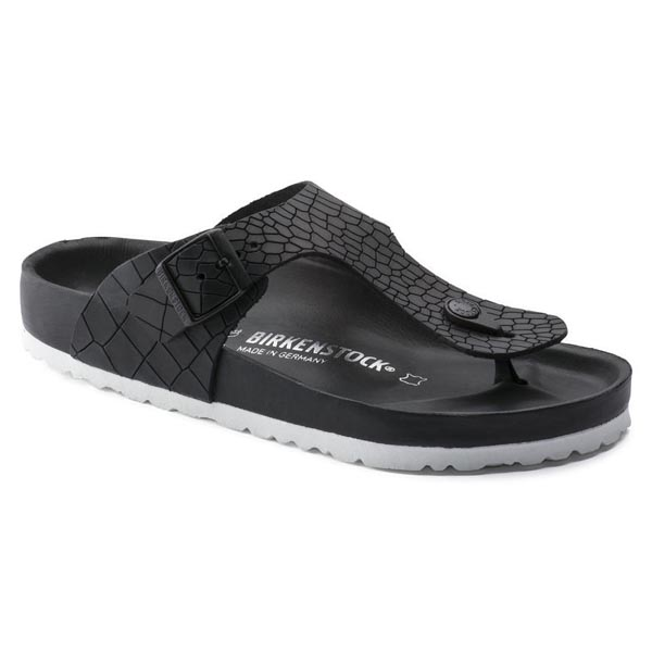 BIRKENSTOCK Ramses Exquisite Croco Black Leather Outlet Store