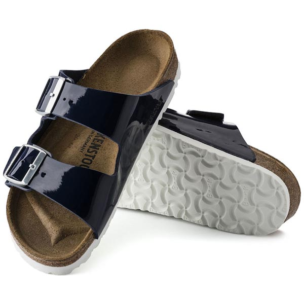 BIRKENSTOCK Arizona Dress Blue Birko-Flor Patent Outlet Store
