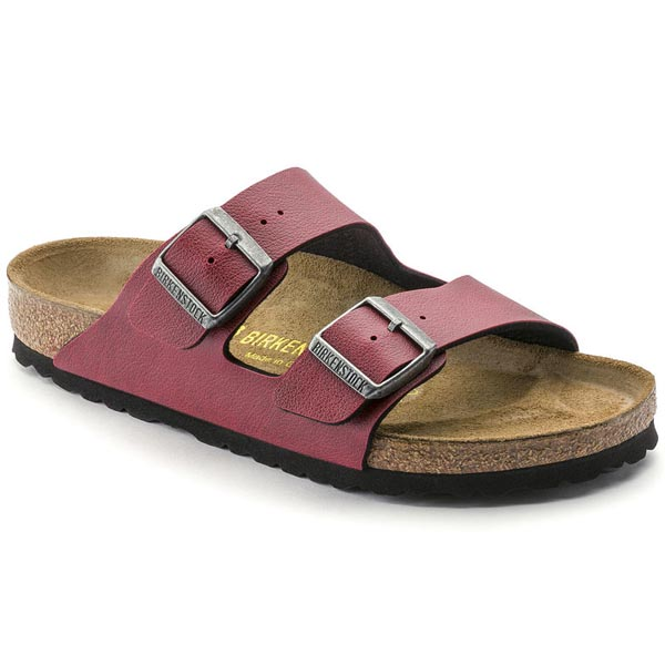 BIRKENSTOCK Arizona Pull Up Bordeaux Birko-Flor Outlet Store