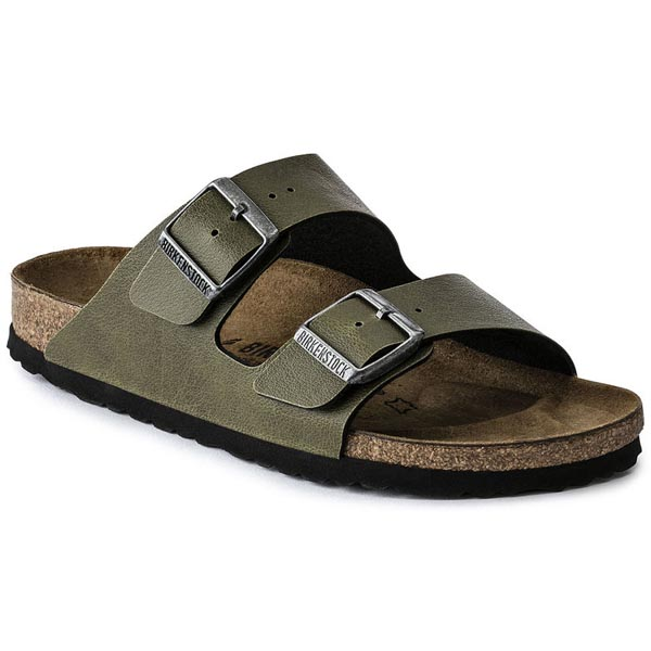 BIRKENSTOCK Arizona Pull Up Olive Birko-Flor Outlet Store