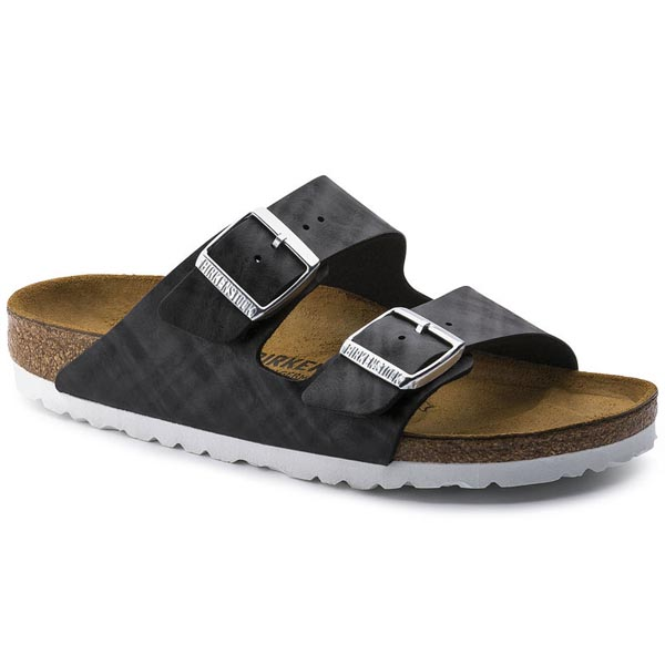 BIRKENSTOCK Arizona Shiny Check Black Birko-Flor Outlet Store