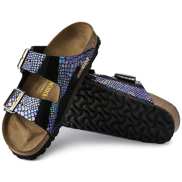 BIRKENSTOCK Arizona Shiny Snake Black Multicolor Birko-Flor Outlet Store