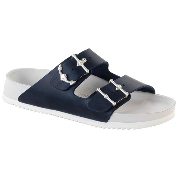 BIRKENSTOCK Arizona Blue Anchor Leather Outlet Store