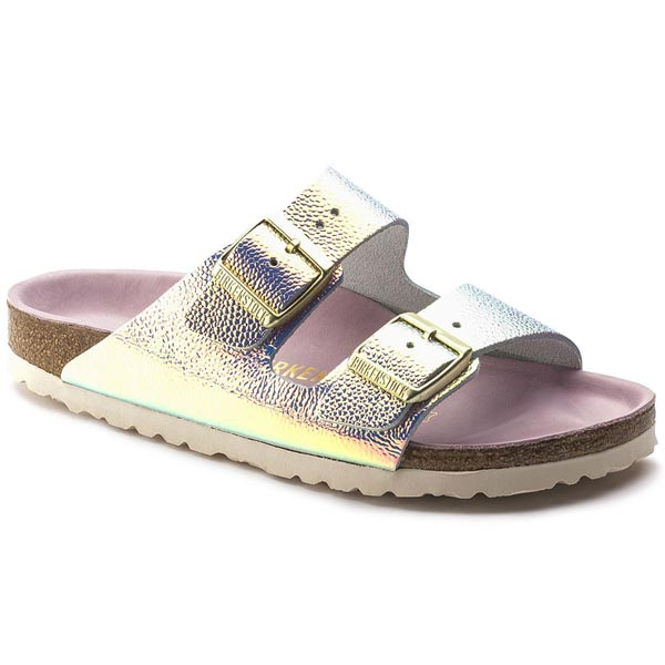 BIRKENSTOCK Arizona Lux Ombre Pearl Silver Orchid Leather Outlet Store