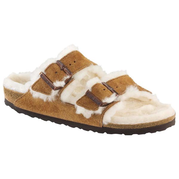 BIRKENSTOCK Arizona Shearling Lined Mink Shearling/Suede Outlet Store