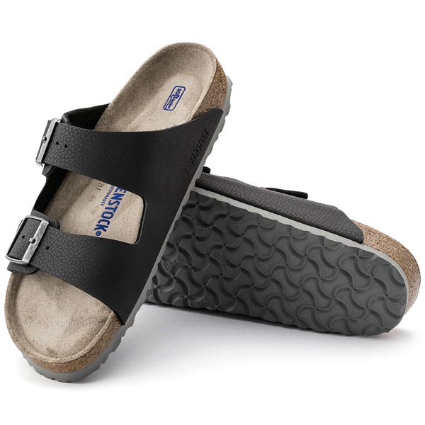 BIRKENSTOCK Arizona Soft Footbed Desert Soil Black Birko-Flor Outlet Store
