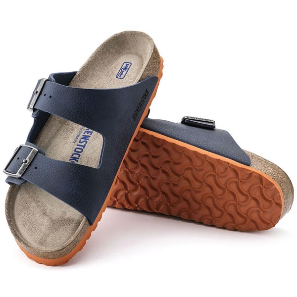 BIRKENSTOCK Arizona Soft Footbed Desert Soil Blue Birko-Flor Outlet Store