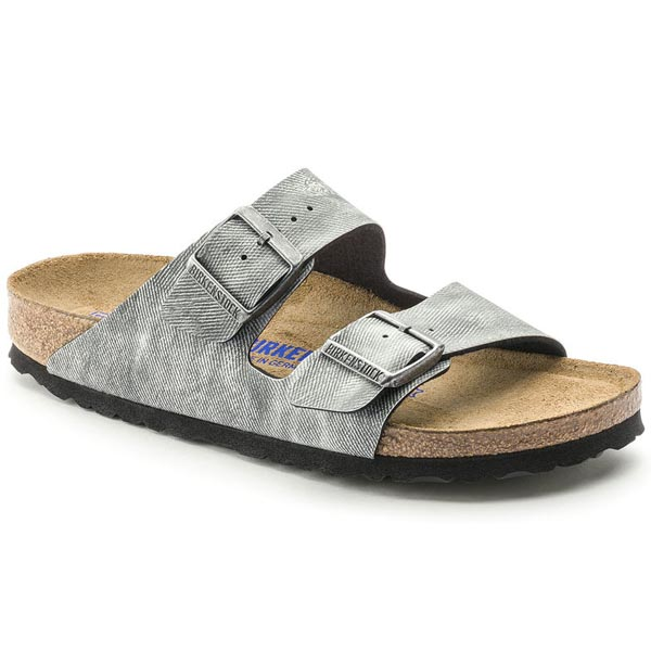 BIRKENSTOCK Arizona Soft Footbed Jeans Washed Out Gray Birko-Flor Outlet Store