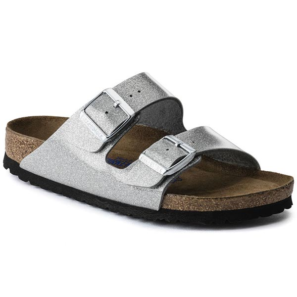 BIRKENSTOCK Arizona Soft Footbed Magic Galaxy Silver Birko-Flor Outlet Store