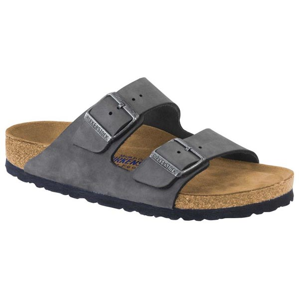 BIRKENSTOCK Arizona Soft Footbed Gunmetal Nubuck Outlet Store