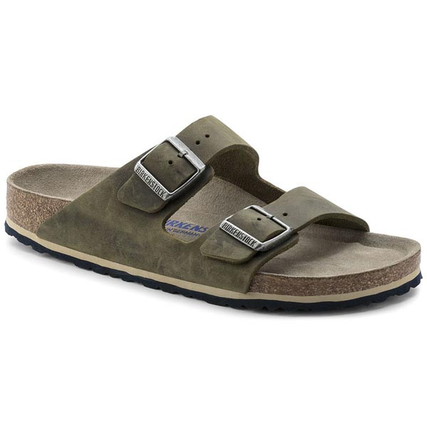 BIRKENSTOCK Arizona Soft Footbed Jade Oiled Leather Outlet Store