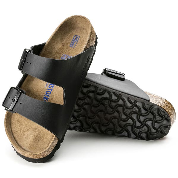 BIRKENSTOCK Arizona Soft Footbed Black Birko-Flor Outlet Store