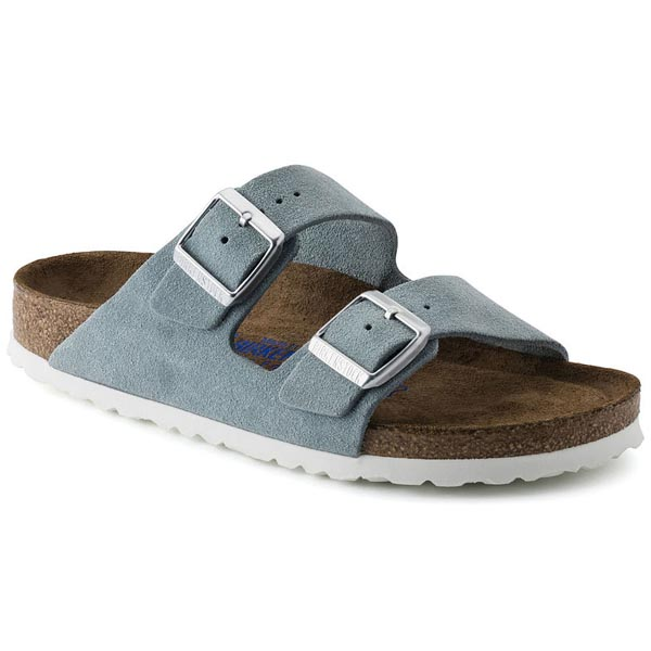 BIRKENSTOCK Arizona Soft Footbed Light Blue Suede Outlet Store