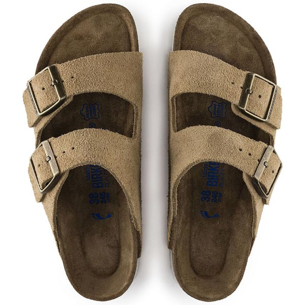 BIRKENSTOCK Arizona Soft Footbed Sand Suede Outlet Store