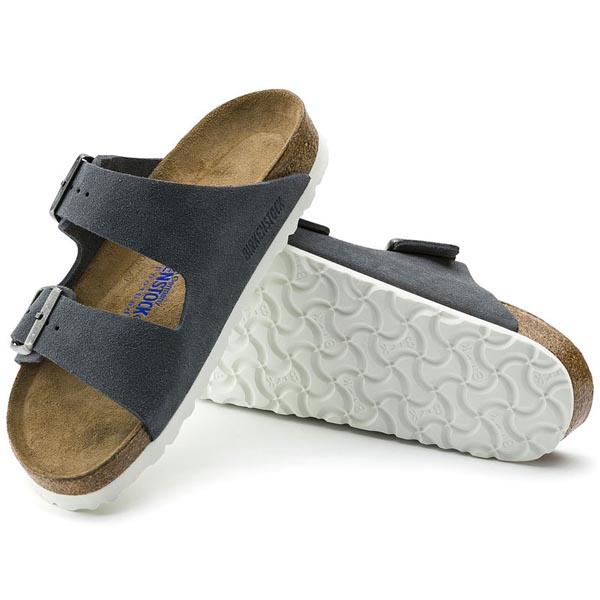BIRKENSTOCK Arizona Soft Footbed Stone Suede Outlet Store