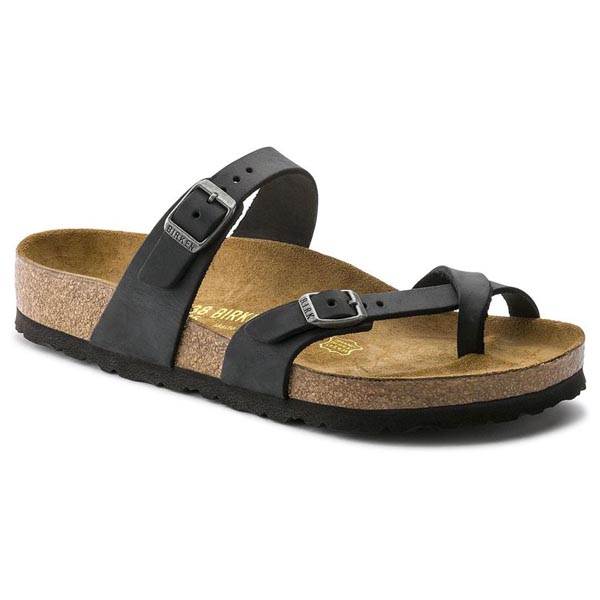 BIRKENSTOCK Mayari Black Oiled Leather Outlet Store