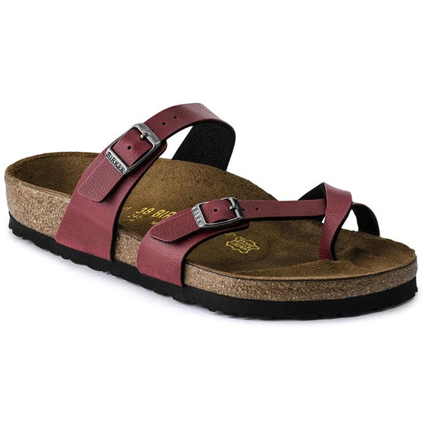 BIRKENSTOCK Mayari Pull Up Bordeaux Birko-Flor Outlet Store