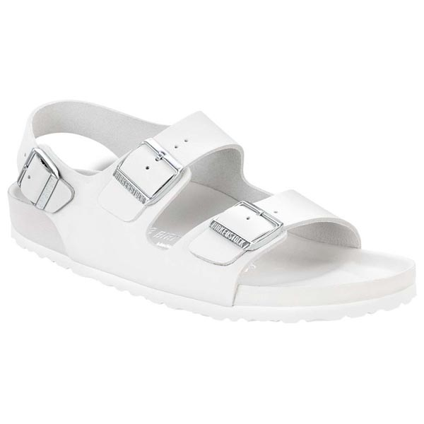 28df0bf03c8 BIRKENSTOCK Milano White Natural Leather Exquisite Outlet Store