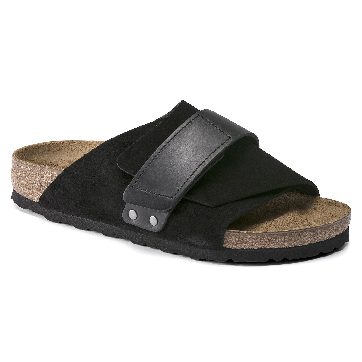 Birkenstock Kyoto Oiled Leather/Suede Leather Black Store
